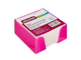 <b>Стикеры attache fantasy 90x90x50mm</b> pink-white 354655 купить в ...