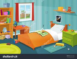 bedroom kid: some kid bedroom illustration of a cartoon children bedroom with boy or girl lifestyle elements