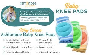 Baby Knee Pads for Crawling (3 Pairs) - Adjustable ... - Amazon.com
