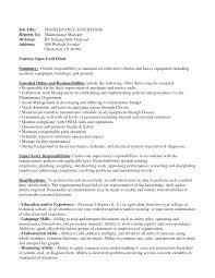 resume maintenance