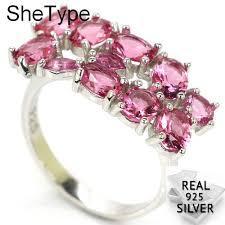 <b>3.4g</b> SheType Romantic Pink Tourmaline Gift For Sister <b>925 Solid</b> ...