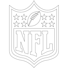 Small Picture NFL Logo coloring page Free Printable Coloring Pages