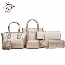 <b>Women 6PCS</b>/Set <b>Handbags</b> Girls PU <b>Leather</b> Shoulder <b>Bag</b> Casual ...