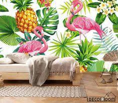 <b>beibehang Nordic</b> small fresh flamingo tortoise leaf background wall ...