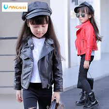 Online Shop <b>girls pu jacket rivet</b> zipper cool jacket Leather clothing ...