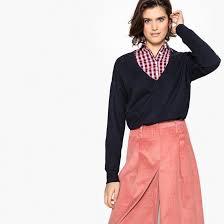 <b>Пуловер</b> c v-образным вырезом из <b>кашемира La Redoute</b> ...