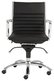 euro style dirk low back office chair blackchrome finish contemporary office black office chair