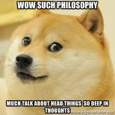 WOW SUCH PHILOSOPHY MUCH TALK ABOUT HEAD THINGS SO DEEP IN ... via Relatably.com