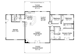 Ranch House Plans   Anacortes     Associated DesignsRanch House Plan   Anacortes     Floor Plan
