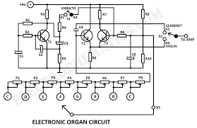 electronic organ circuitelectronic organ circuit diagram