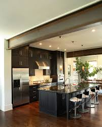 Walnut Floor Kitchen Dark Walnut Floors Kitchen Modern With Cooktop Fluorescent