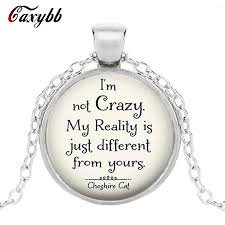 Caxybb Brand <b>I'm Not Crazy Cheshire</b> Cat necklace Pendant ...