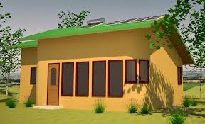 Straw Bale House Plans   Small  affordable  sustainable strawbale    Solar Cabin  click to enlarge