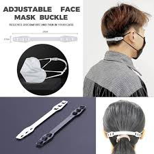 2pcs <b>Adjustable Anti-slip Mask Ear</b> Grips Extension Hook Face ...