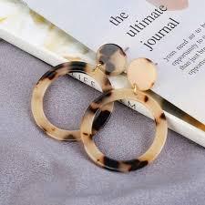 New Fashion Leopard Earrings Acetate Earrings <b>Personality</b> ...