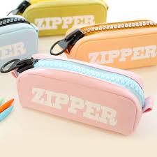 Buy Large zipper <b>pencil</b> female students multifunction large capacity ...