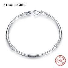 Hot sale <b>strollgirl</b> Snake Chain <b>real</b> 925 Sterling Silver original ...