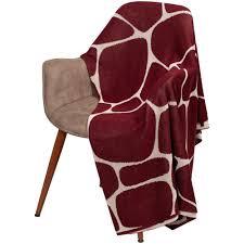 <b>Плед</b> Very Marque <b>Giraffe</b>, <b>бежевый с</b> бордовым