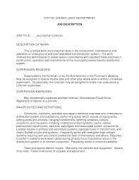 job description highway foreman cover letter electrician skills resume experience resumes construction job descriptions example of jobelectrical technician job description