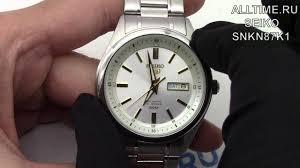 Обзор наручных <b>часов Seiko SNKN87K1</b> - YouTube