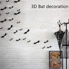 <b>12 Pieces</b> Black Attractive 3D <b>Bat</b> Sticker Removable Wall Sticker ...