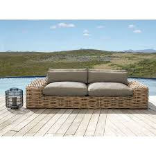 2/<b>3-seater garden sofa</b> in rattan with taupe cushions St Tropez, ST ...