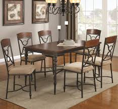 Silver Dining Room Set Dining Room Set Silver Leatherette Silver Color Wrought Iron