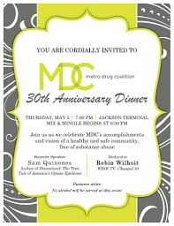 mdc to host th annual anniversary dinner metro drug coalition 30th dinner invitation page 001
