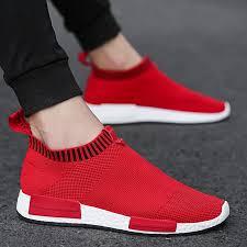 Men Shoes Sneakers <b>Men Breathable Air</b> Mesh Sneakers Slip on ...