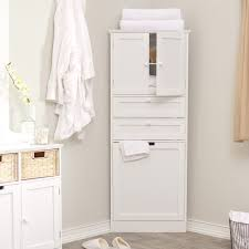 bathroom space savers bathtub storage:  awesome cupboard at modern bathroom decorated with modern corner linen cabinet placed at corner side