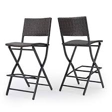 Christopher Knight Home Margarita Outdoor Wicker <b>Barstools</b>, <b>2</b>-<b>Pcs</b> ...