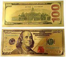 LOT OF 100: 24K Gold Fake $100 Dollar Bill <b>Color</b> Enhanced New ...