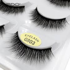 <b>YSDO 5 Pairs</b> 3D Mink <b>EyeLashes</b> Natural Hair False <b>EyeLashes</b> ...