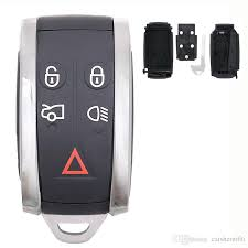 <b>5Buttons Car Smart Remote Key</b> Case Shell + Uncut <b>Key</b> Blank For ...