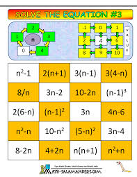 algebra math games printable algebra games solve the equation 3