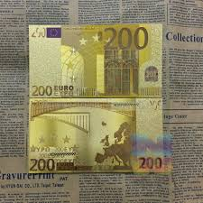 10 pcs/set Art and Collectibles <b>Color</b> 24K Gold <b>Banknotes</b> Gold Foil ...