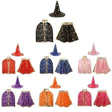 <b>Halloween Party</b> Cosplay <b>Costumes</b> Kids Set Star Print <b>Robe Cloak</b> ...