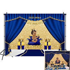 Mehofoto Royal Blue Baby Shower Backdrop ... - Amazon.com