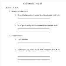 outline template      download free documents in pdf   excel   wordessay outline template