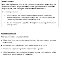 essay question trade agreements such as the proposed trans essay question trade agreements such as the proposed trans pacic partnership are often controversial do you think trade agreements are of