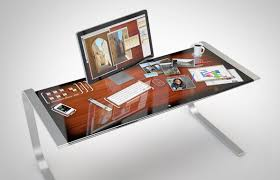 how awesome would it be to have an entire desk that was a touchscreen probably this would making work much more efficient and immeasurably more fun to do awesome office desks