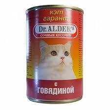 <b>Консервы Dr</b>.<b>Alder's</b> Cat <b>Garant</b> для кошек, говядина