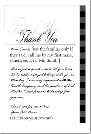 job lost job found excerpts thank you note
