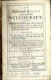 magazines special collections at virginia tech title page for 039 an historical essay concerning witchcraft