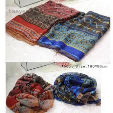 taeyeon <b>Women</b> Soft Ethnic <b>Bohemia</b> Printed Chiffon Square <b>Scarf</b> ...