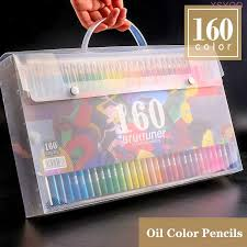 Brutfuner <b>48/72/120/160</b>/<b>180Color Professional Oil Color</b> Pencils ...