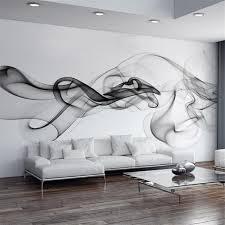 room elegant wallpaper bedroom: smoke fog photo wallpaper modern wall mural d view wallpaper designer art black amp white room