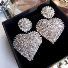 MWsonya New <b>Korean Luxury High end</b> Rhinestone Love Heart ...