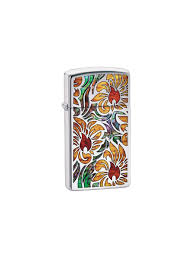 <b>Зажигалка</b> Slim с покрытием <b>High Polish</b> Chrome Zippo 6966374 в ...