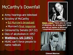 「downfall of Senator Joseph McCarthy」の画像検索結果
